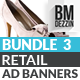 Retail Banner Ads - Bundle 3 - GraphicRiver Item for Sale