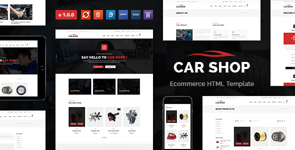 Car Shop – Ecommerce HTML Template