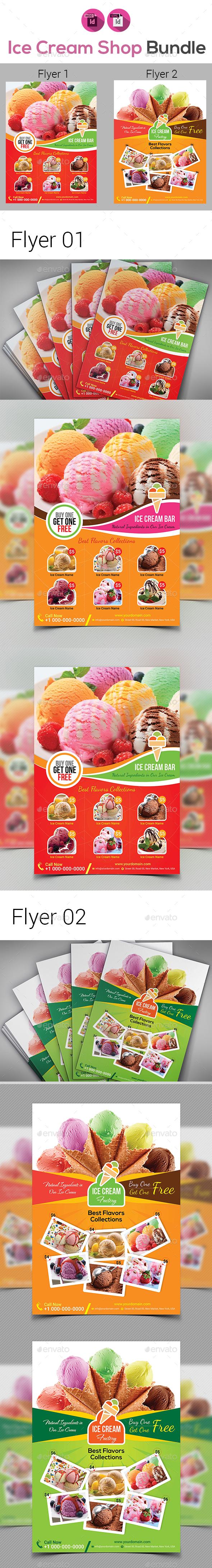 Ice Cream Shop Flyers Bundle
