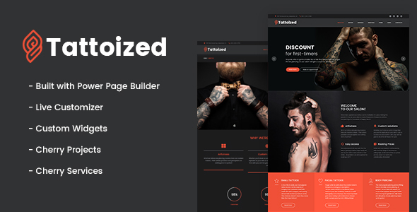 Tattoized – Tattoo Salon WordPress Theme