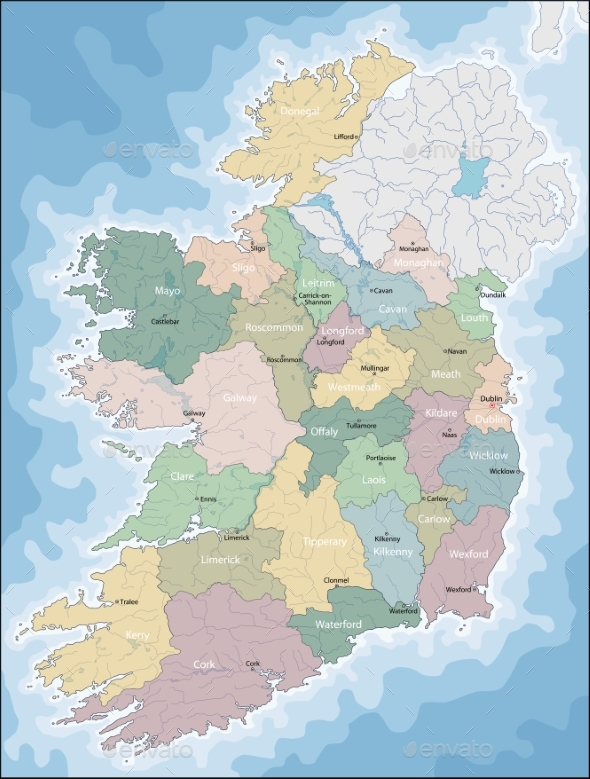 Map of Ireland - Miscellaneous Vectors