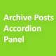 Archive posts accordion panel pro
