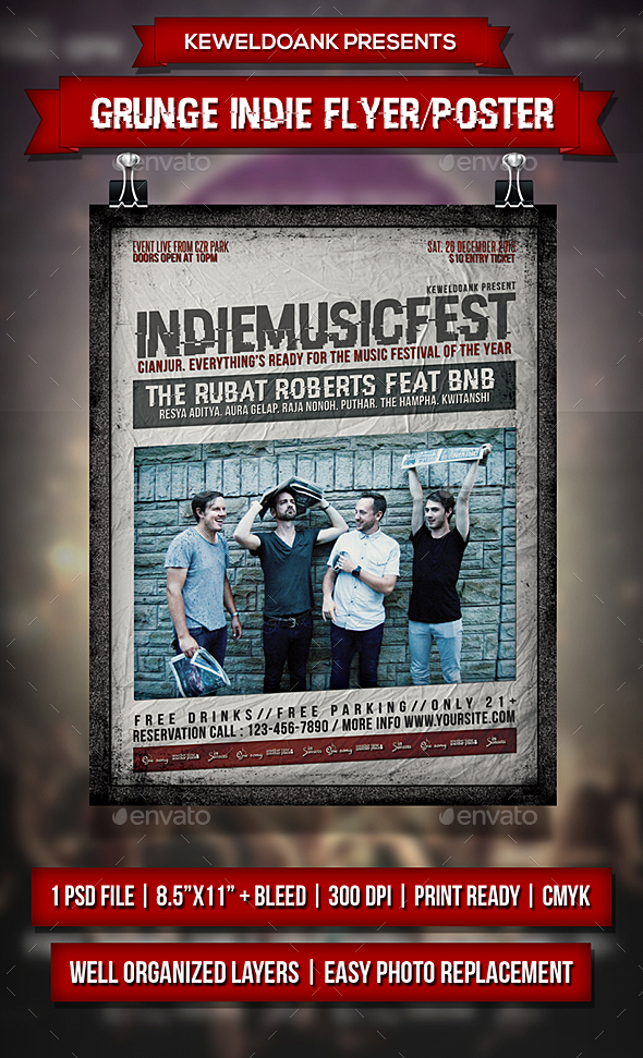 Grunge Indie Fyer / Poster - Events Flyers