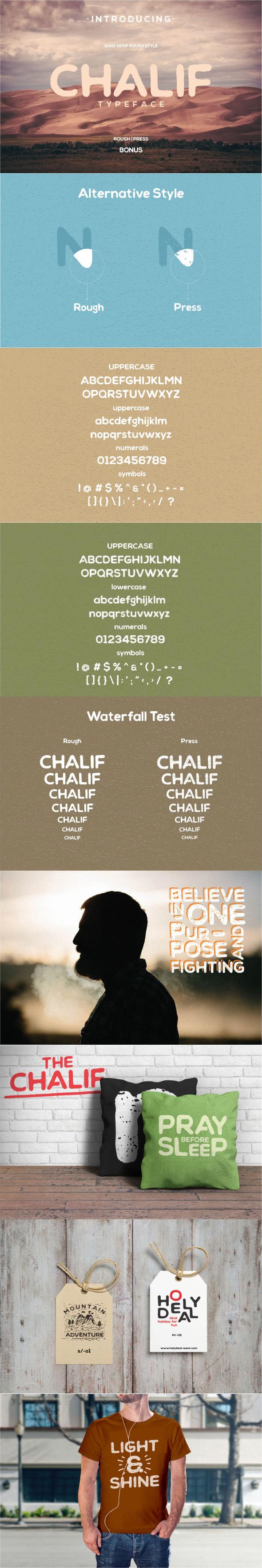 Chalif Typeface - Miscellaneous Sans-Serif