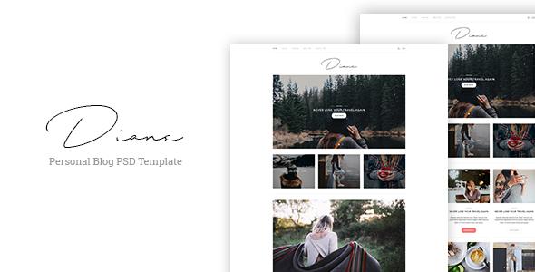 Diane - Personal Blog PSD Template - PSD Templates