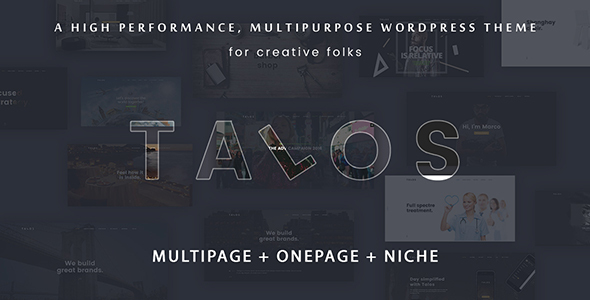 Talos - Creative Multipurpose WordPress Theme - Portfolio Creative