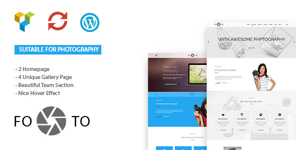 Footo Photography WordPress Theme - Photography Creative