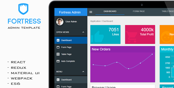 Fortress – React Admin Template
