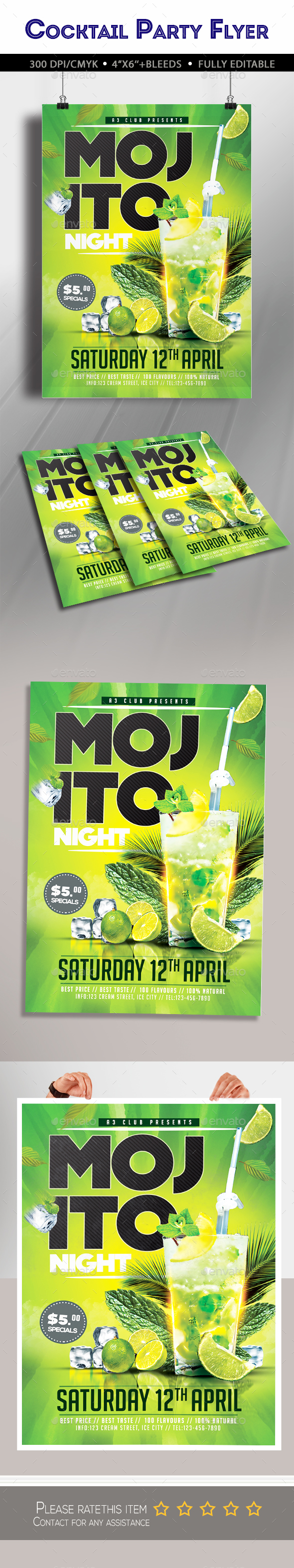 Mojito Night Party Flyer - Clubs & Parties Events