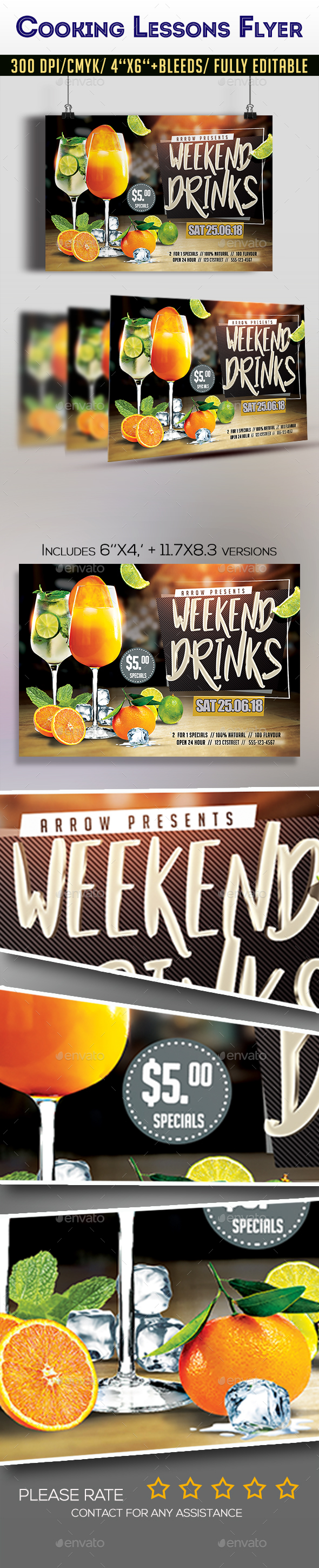 Weekend Drinks Party Flyer - Clubs & Parties Events