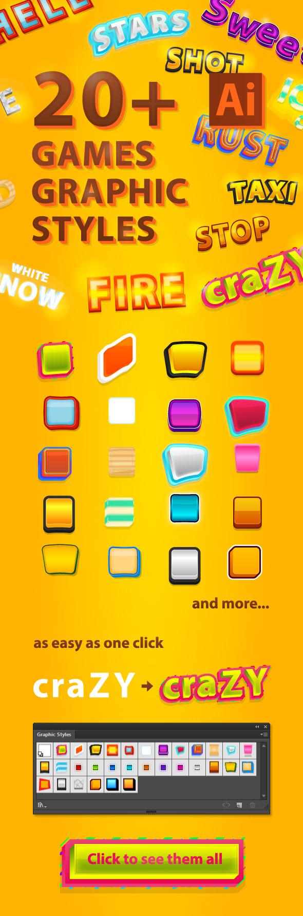 20 Games Illustrator Graphic Styles - Styles Illustrator