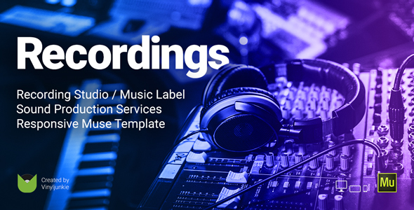 Recordings – Recording Studio / Sound Production / Music Label Responsive Muse Template