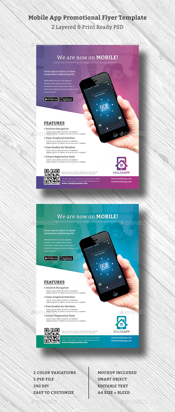 Mobile App Promotional Flyer - Commerce Flyers
