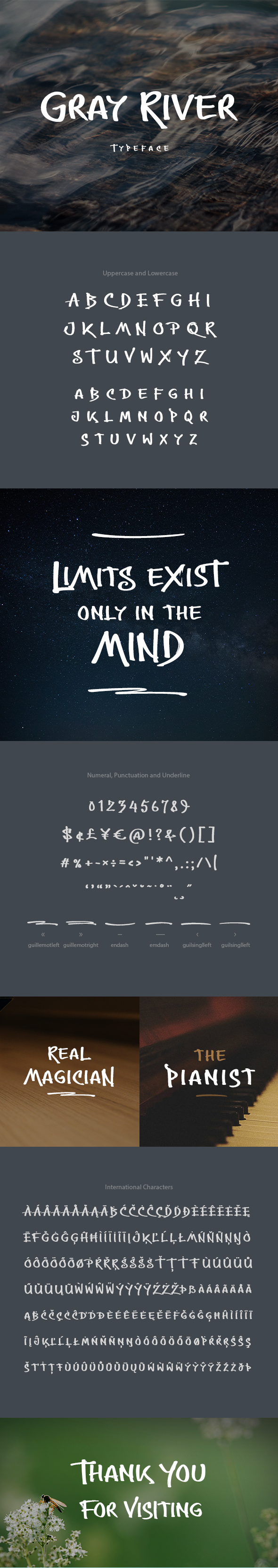 Gray River Font - Hand-writing Script