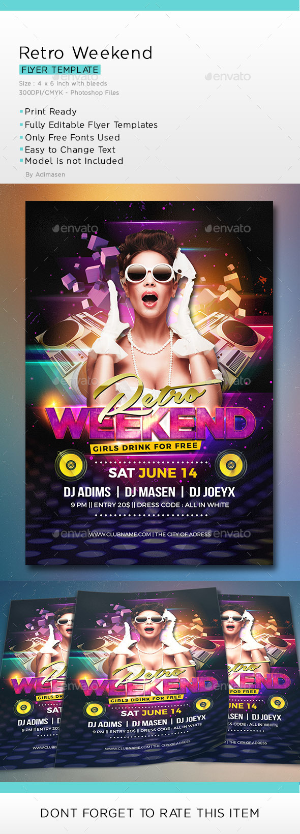 Retro Weekend Flyer - Clubs & Parties Events