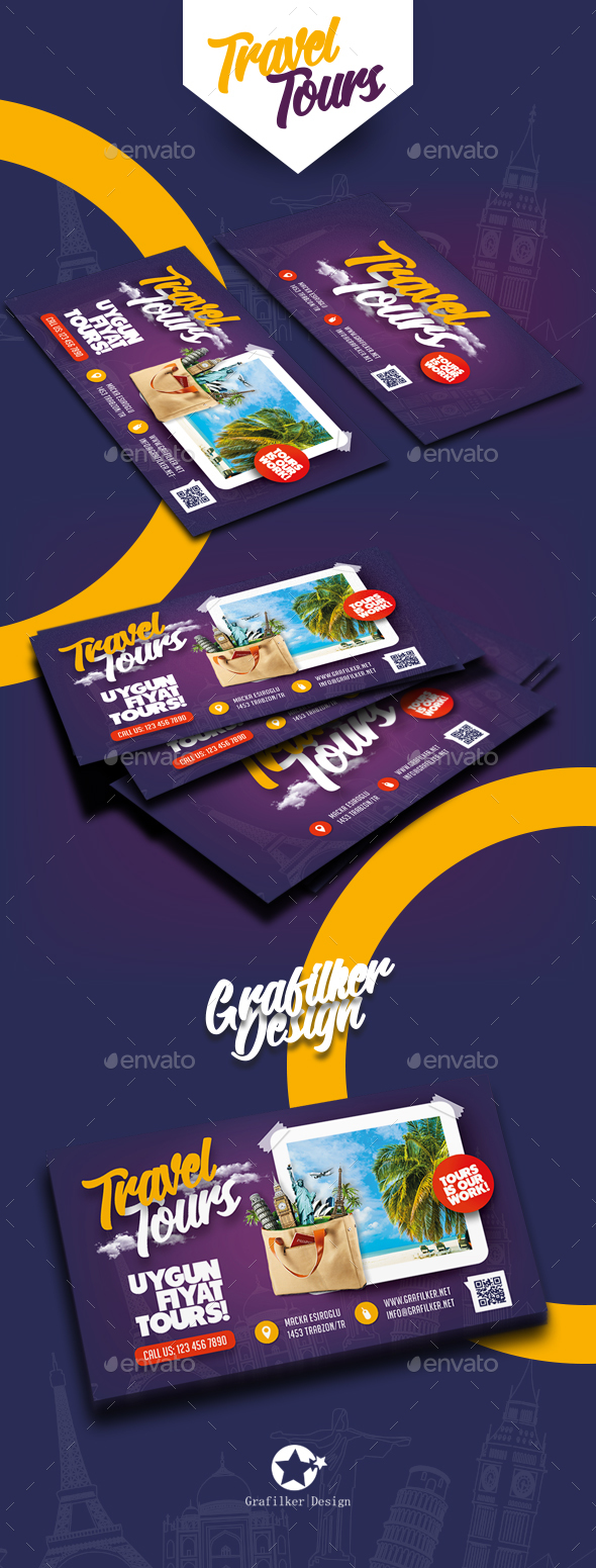 Travel tours business card templates by grafilker graphicriver travel tours business card templates corporate business cards magicingreecefo Choice Image