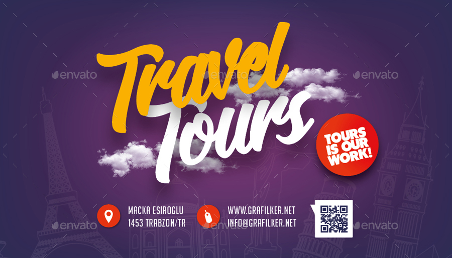 Travel tours business card templates by grafilker graphicriver travel tours business card templates colourmoves