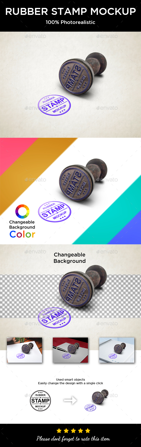 Rubber Stamp Mockup - Logo Product Mock-Ups