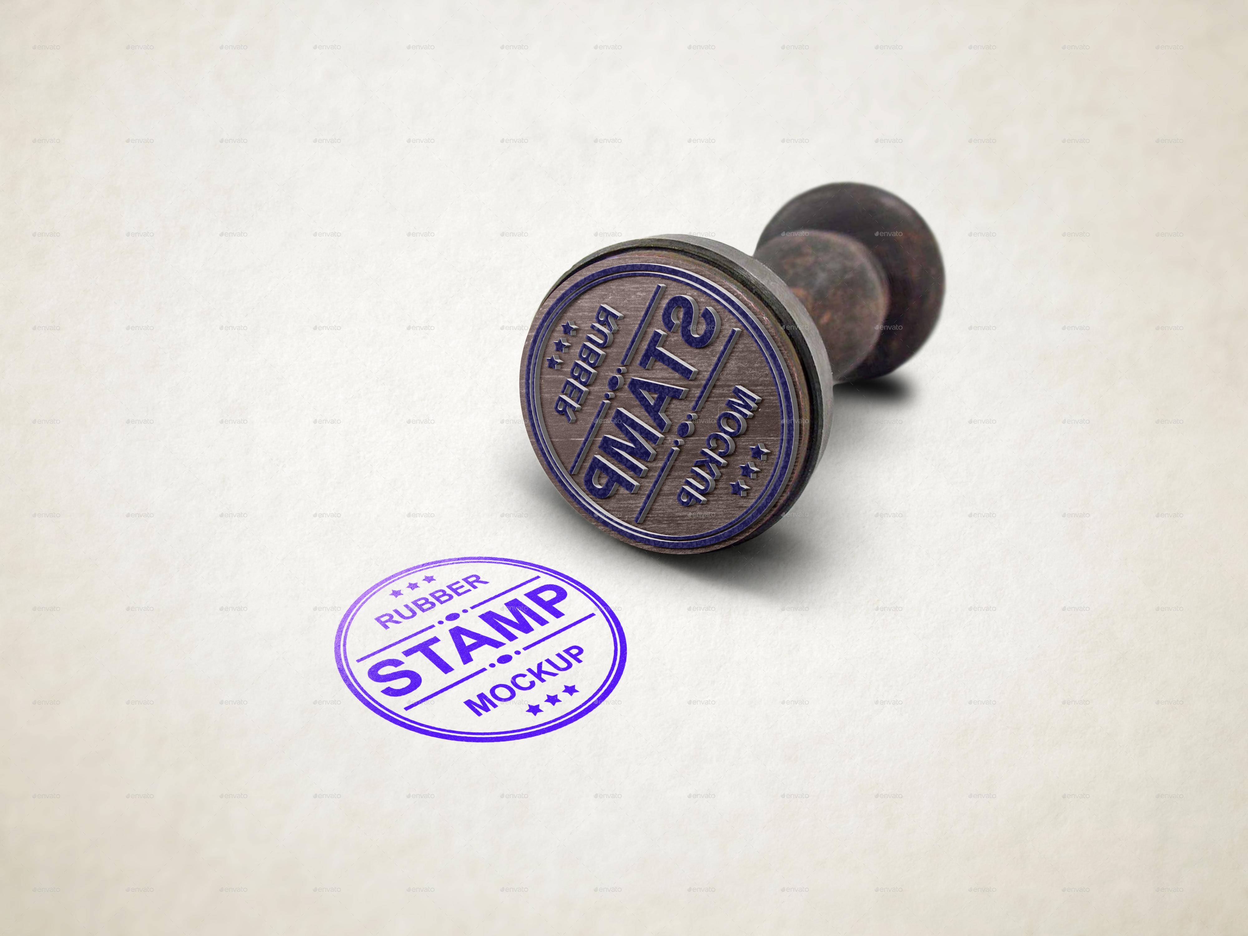 Graphicriver logo mockup v 5 for Rubber stamp t shirt printing