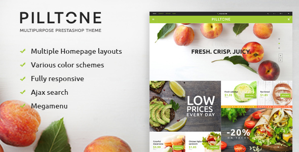 Pilltone - Fresh Food Responsive Prestashop Theme - Shopping PrestaShop