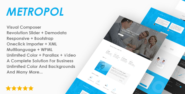 Metropol - A WordPress Theme For Investment & Finance - Business Corporate