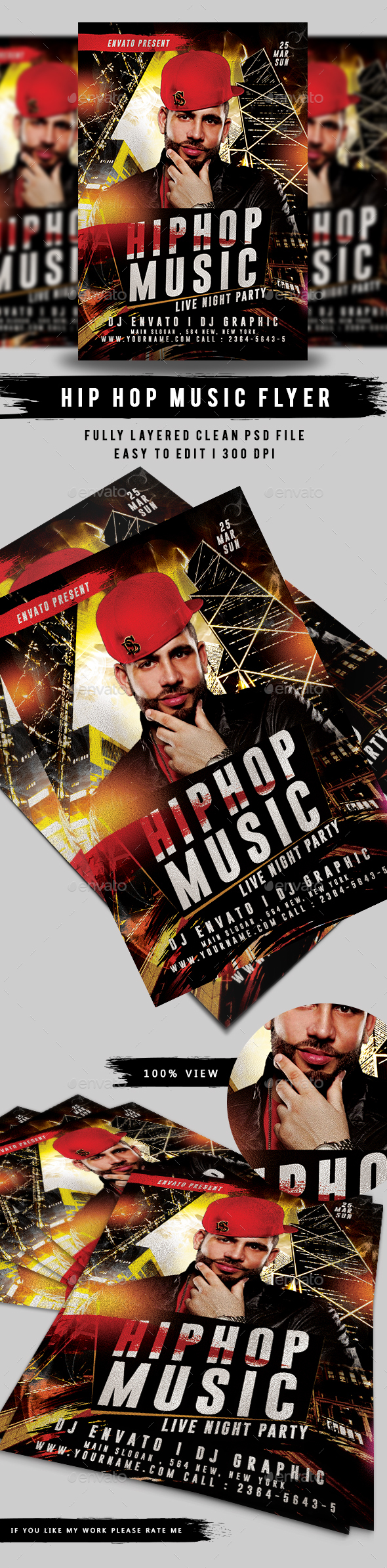Hip Hop Event Music Flyer - Events Flyers