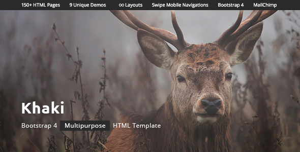 Khaki - Multipurpose HTML Template with Bootstrap 4