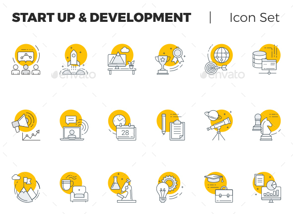 Start Up and Development Vector Icon Set - Icons