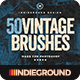 50 Vintage Brushes Set Vol. 2 - GraphicRiver Item for Sale