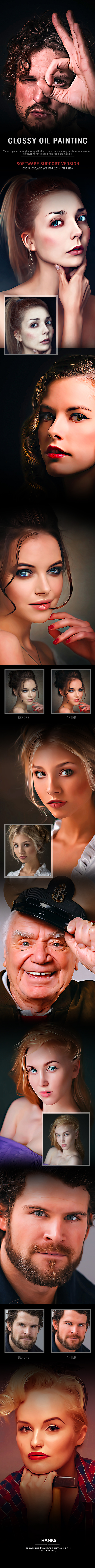 Glossy Oil Painting - Photo Effects Actions