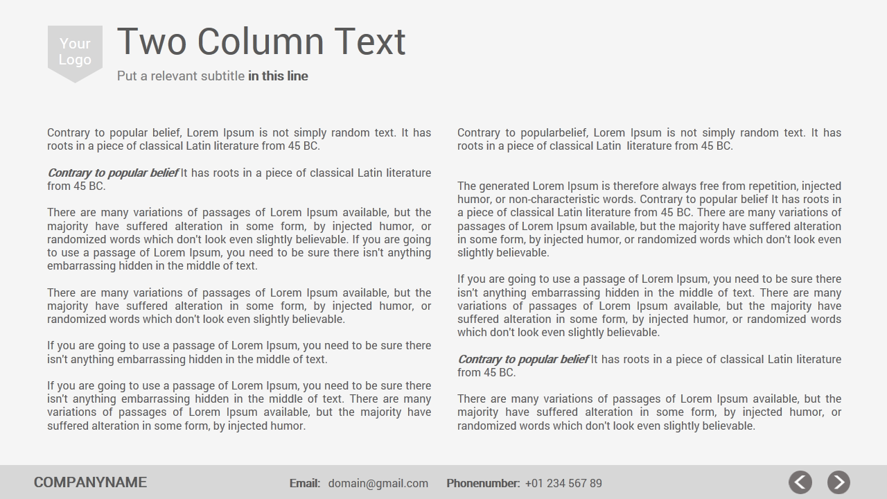 two column cover letter