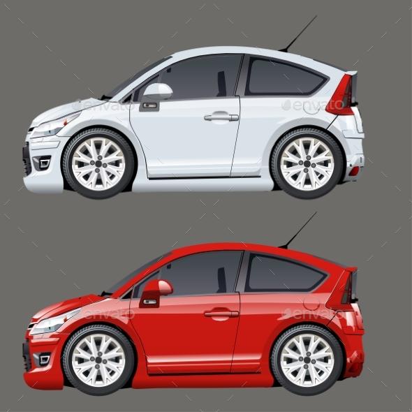 Cartoon Vector Cars - Man-made Objects Objects