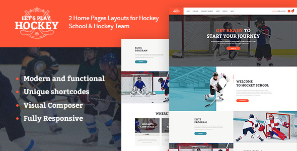 Let's Play | Hockey School & Sport Theme