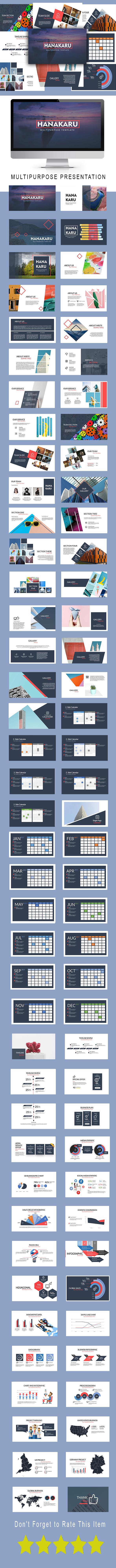 Hanakaru Multipurpose Powerpoint Template - PowerPoint Templates Presentation Templates