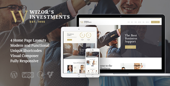 Wizor's | Investments & Business Consulting WordPress Theme