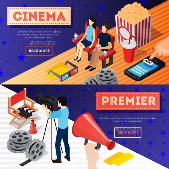 Cinema Premiere Banners Set - Miscellaneous Vectors