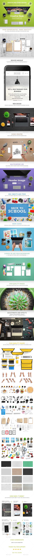 Creative Desk Scene Creator - Hero Images Graphics