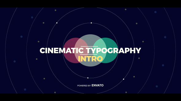 Cinematic Typography Intro