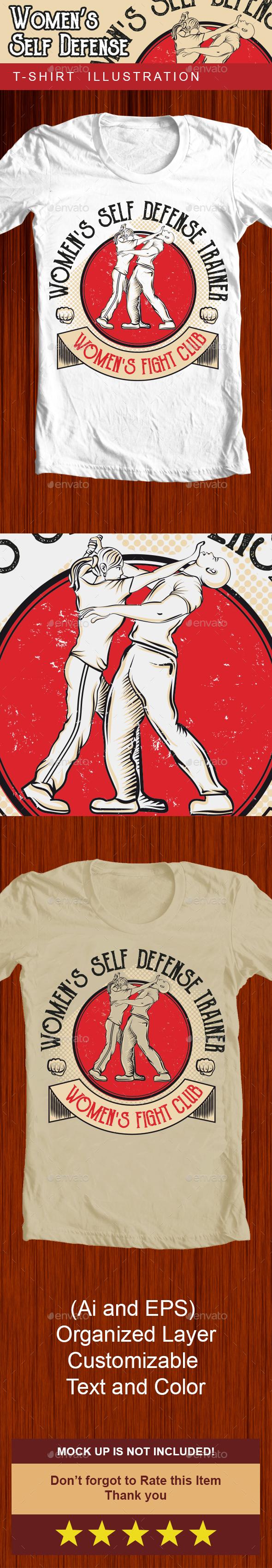 Women's self defense - Tshirt Illustration - Sports & Teams T-Shirts