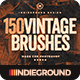 150 Vintage Brushes Bundle - GraphicRiver Item for Sale