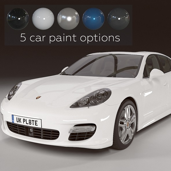 Porsche Panamera Turbo - 3DOcean Item for Sale