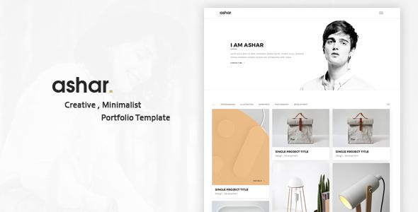 Ashar – Creative Minimal Portfolio Template