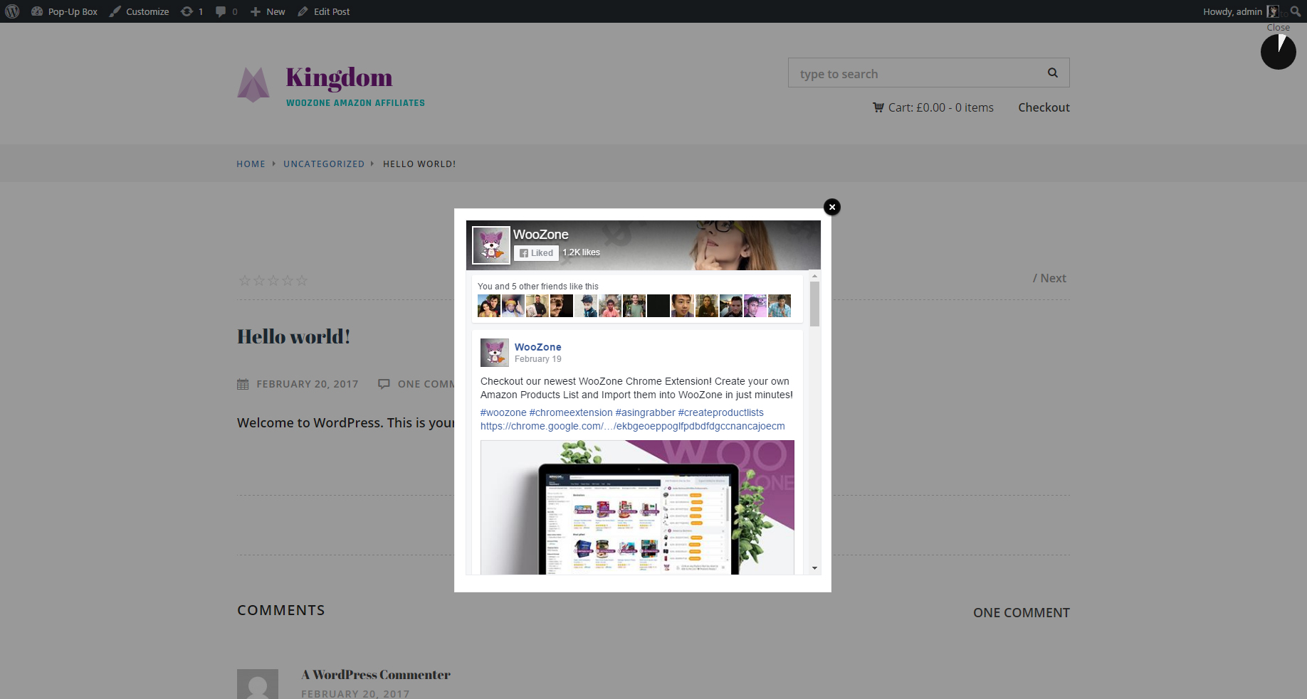 WordPress Popups Plugin