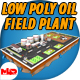 Low Poly Oil Field Plant with Oil Pumps - 3DOcean Item for Sale