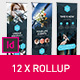 Rollup Stand Banner Display Triangle 12x Indesign Template - GraphicRiver Item for Sale