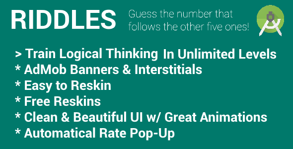 Riddles - Game with AdMob (Banners & Interstitials) - CodeCanyon Item for Sale