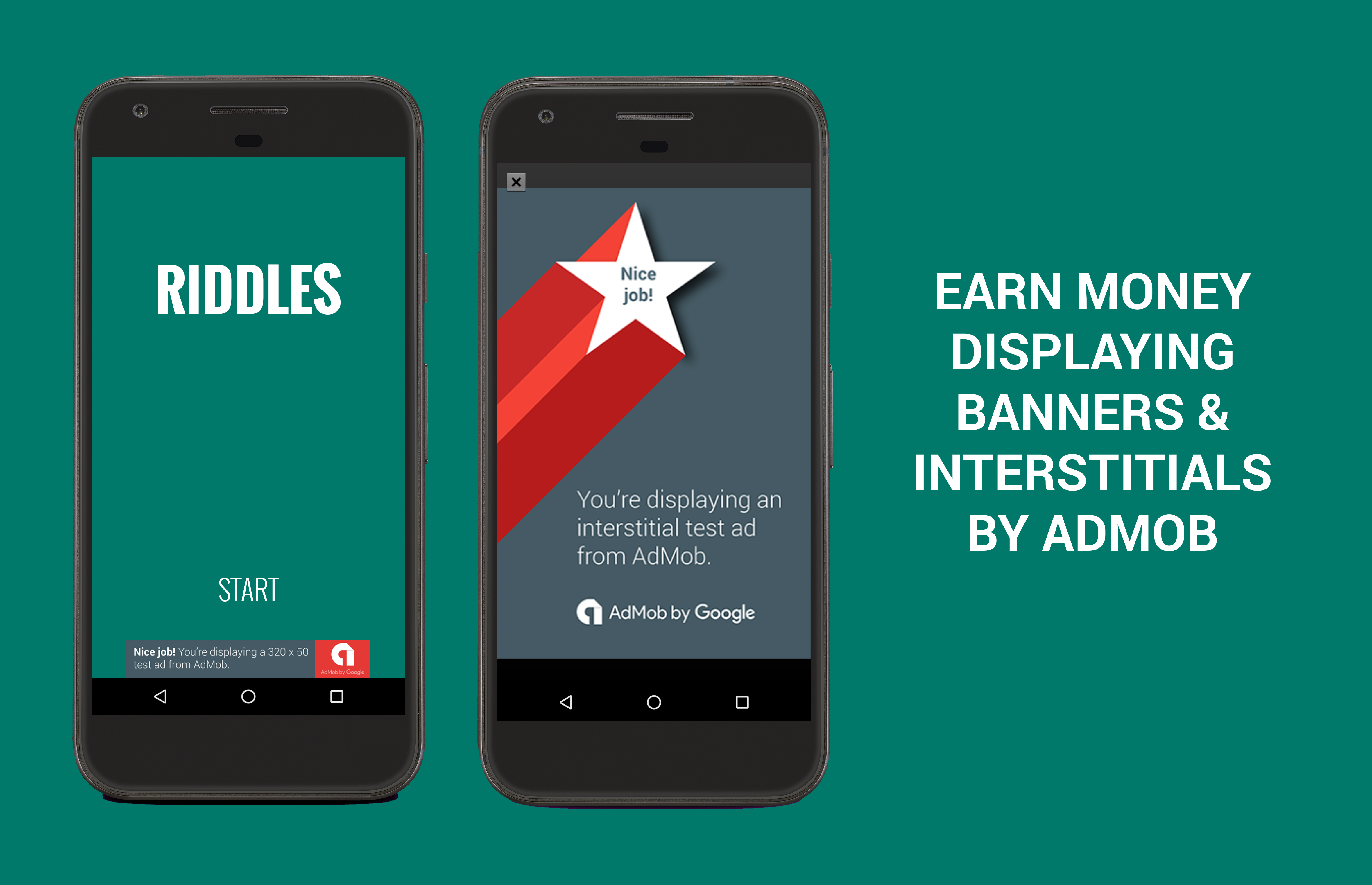 Riddles - Game with AdMob (Banners & Interstitials) by HerculesApps