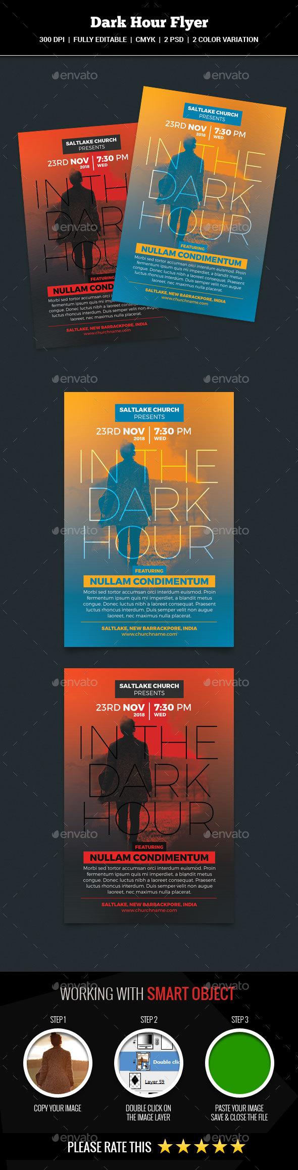 Dark Hour Church Flyer - Church Flyers
