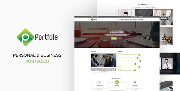 Portfola  – Portfolio PSD Template