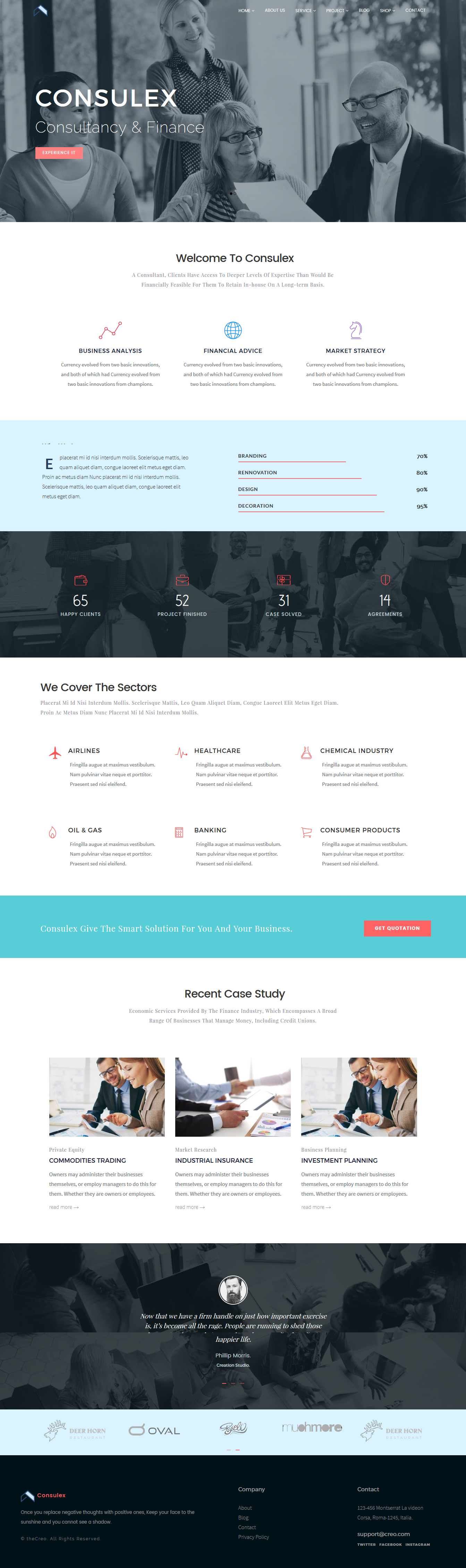 Consulex - Business Consulting and Financial Services HTML Template ...